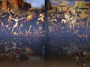Rapto de las Sabinas, recreación de Jacques Louis David (1799), apropiación de Pablo Picasso (1962).