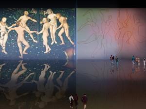 Danza primigenia, versiones de Lucas Cranach el Viejo (1530), Jean Auguste Ingres (1862), Henri Matisse (1910), Edmond Cross (1902), Pablo Picasso (1924).