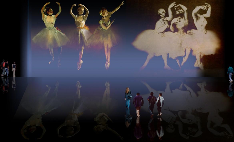 Escenas de Rituales del Ballet, obras de Edgar Degas (1890), interpretaciones y ambientaciones de Pablo Picasso (1919).