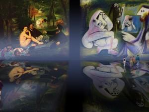 El Almuerzo, escenificación de Edouard Manet (1863), traducción de Pablo Picasso (1960).