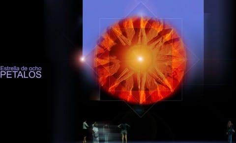 Estrella de ocho pétalos
